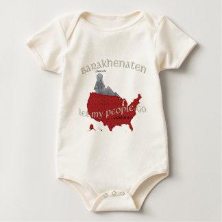 Barakhenaten Let My People Go! Exodus 9:1 Baby Bodysuit