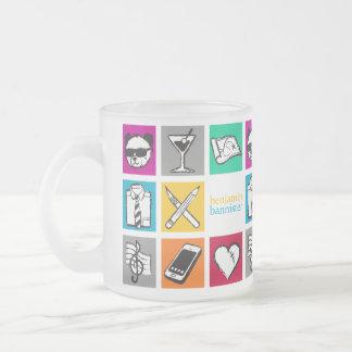 "barandilla ""cubo "" de benjamin tazas de café"