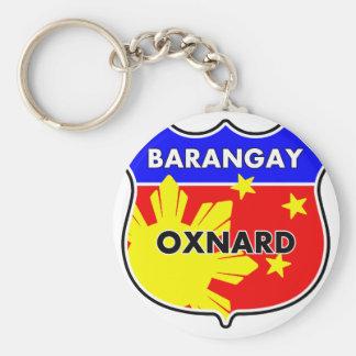 Barangay Oxnard Basic Round Button Keychain
