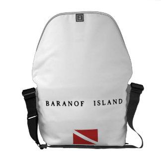 Baranof Island Alaska Scuba Dive Flag Courier Bag