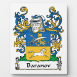 Baranov Family Crest Display Plaque