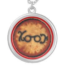 barashakushu silver plated necklace