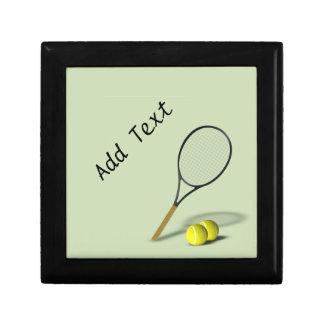 Baratija del tenis/caja de regalo personalizadas joyero cuadrado pequeño