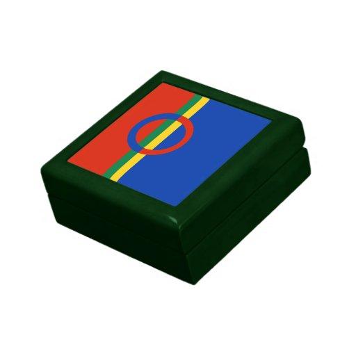 Baratija nórdica del regalo de la raya del color d joyero cuadrado pequeño