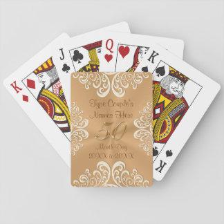 Barato 50.os regalos del aniversario cartas de póquer