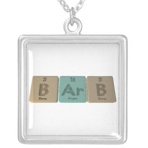 Barb as Boron Argon Boron Necklace