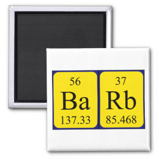 Barb periodic table name magnet