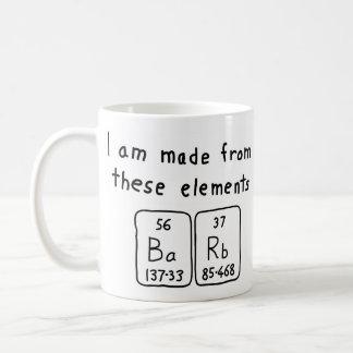 Barb periodic table name mug