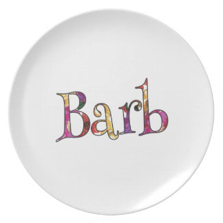 Barb's Colorful Fun Plate