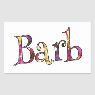 Barb's Colorful Fun Rectangular Sticker