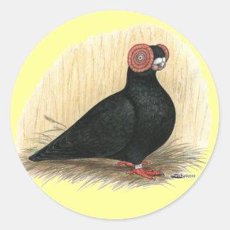Barb:  Standard Black Classic Round Sticker