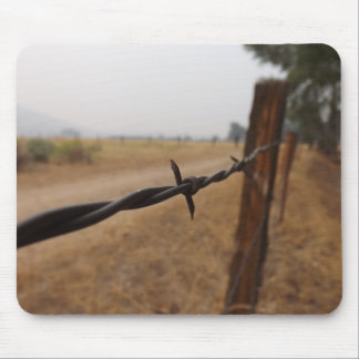 Barb Wire Fence Mousepad
