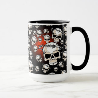 Barb Wired Skulls Mug