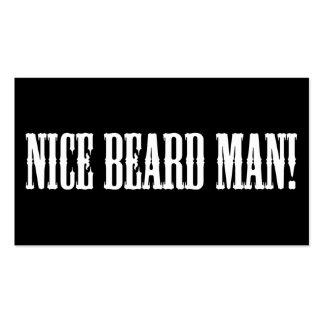Barba agradable. Tarjeta de visita