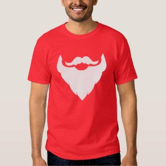 Barba blanca de Santa y camiseta del bigote/del Playera