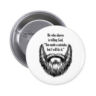 barba borrosa de la sal y de la pimienta pin redondo 5 cm
