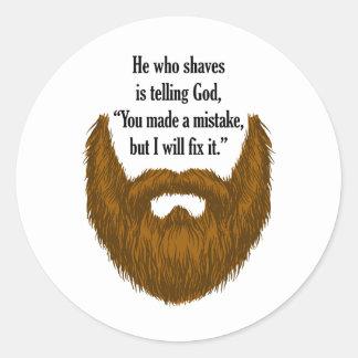 barba borrosa marrón etiqueta