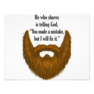 barba borrosa marrón invitaciones personales