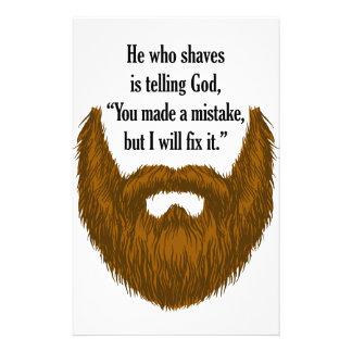 barba borrosa marrón papeleria personalizada