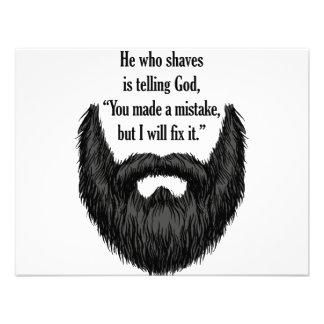 Barba borrosa negra invitaciones personalizada