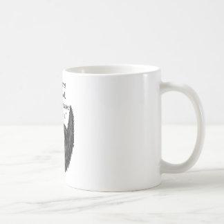 Barba borrosa negra taza básica blanca