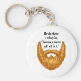 barba borrosa roja llavero redondo tipo pin