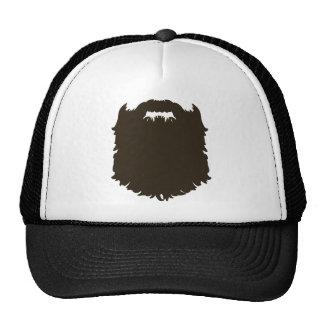 Barba de hombres rugosa gorra