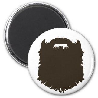 Barba de hombres rugosa imán redondo 5 cm