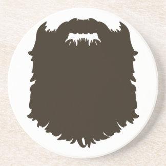 Barba de hombres rugosa posavasos personalizados