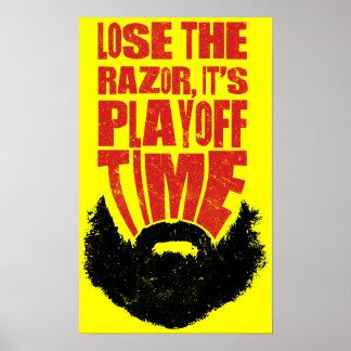Barba de la segunda fase del hockey póster