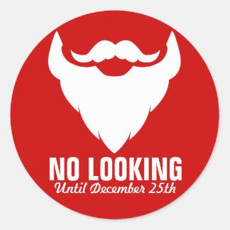 Barba de Santa del navidad ningún pegatina rojo de