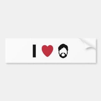 Barba del corazón I Pegatina Para Auto