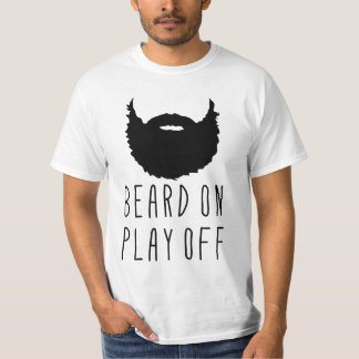 Barba en juego de la camiseta de la barba de la