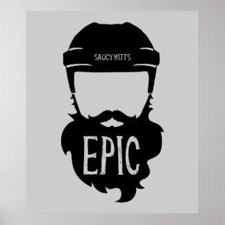 Barba épica de la segunda fase del hockey póster
