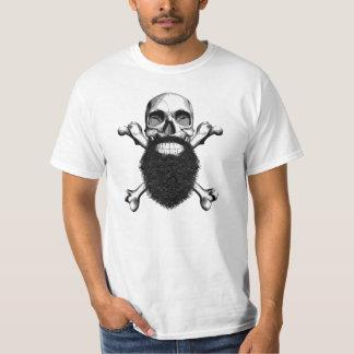 Barba grande del cráneo remera