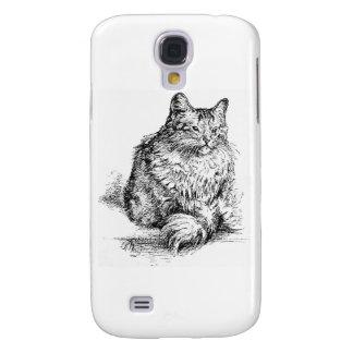 Barba las ilustraciones del gato carcasa para galaxy s4