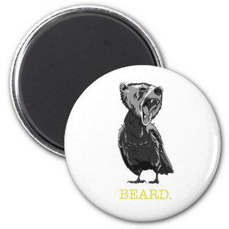 Barba (medio oso - medio pájaro) imán redondo 5 cm
