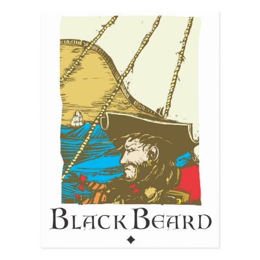 Barba negra postal