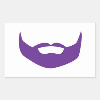 Barba Pegatina Rectangular