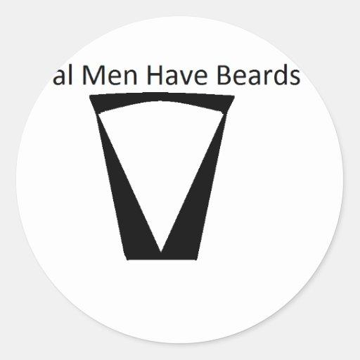 barba pegatina redonda