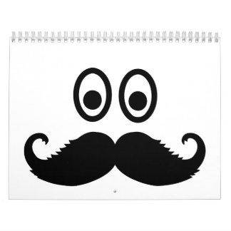 Barba sonriente del bigote calendarios