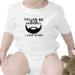 Barba T-shirt.png de la emergencia Traje De Bebé
