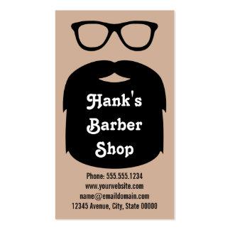 Barba y vidrios tarjetas de visita