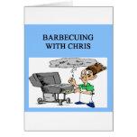barbacoa con Chris Felicitación