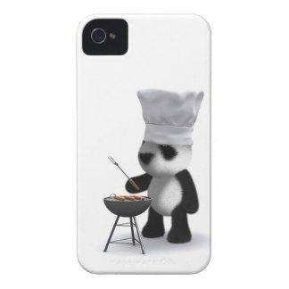 barbacoa de la panda del bebé 3d iPhone 4 protector