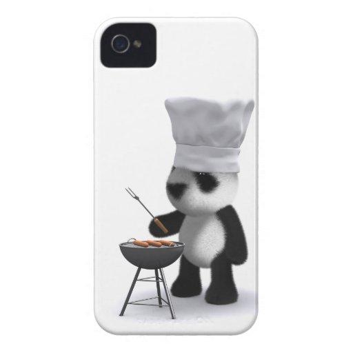 barbacoa de la panda del bebé 3d funda para iPhone 4 de Case-Mate