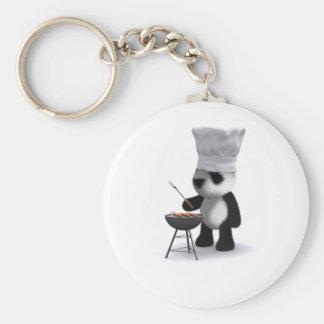 barbacoa de la panda del bebé 3d llavero