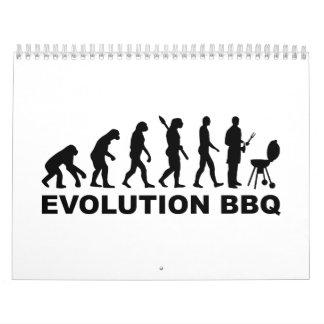 Barbacoa del Bbq de la evolución Calendario De Pared