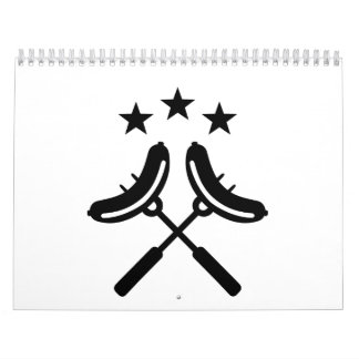 Barbacoa del Bbq de la salchicha Calendario De Pared