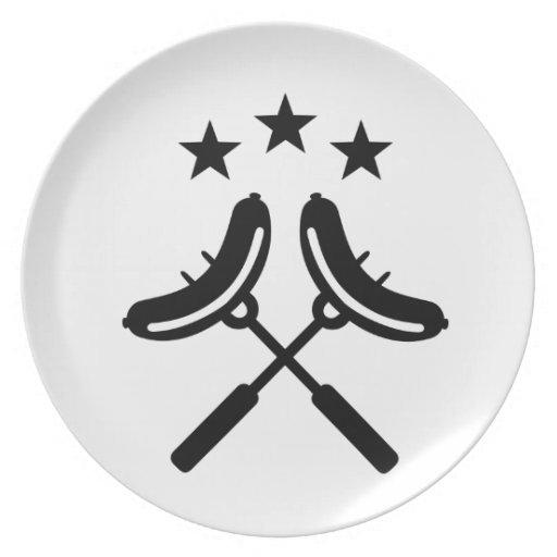 Barbacoa del Bbq de la salchicha Plato Para Fiesta